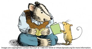 Embedded Badger and Mouse reading